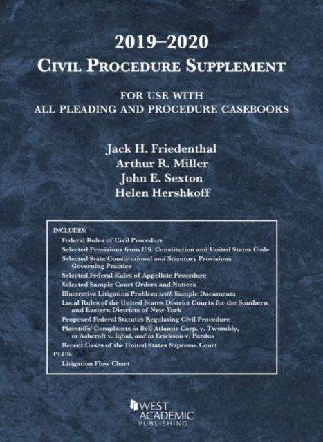 Civil Procedure Supplement, for Use with All Pleading and Procedure Casebooks, 2019-2020