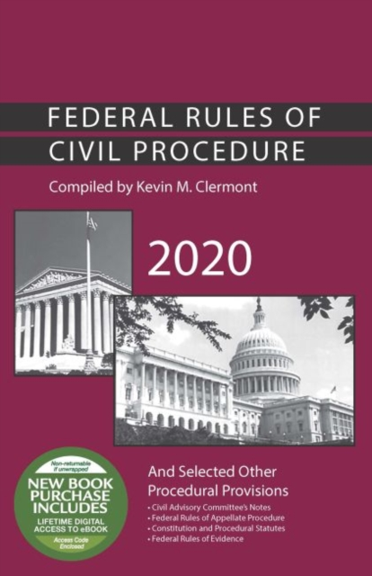 Federal Rules of Civil Procedure and Selected Other Procedural Provisions, 2020