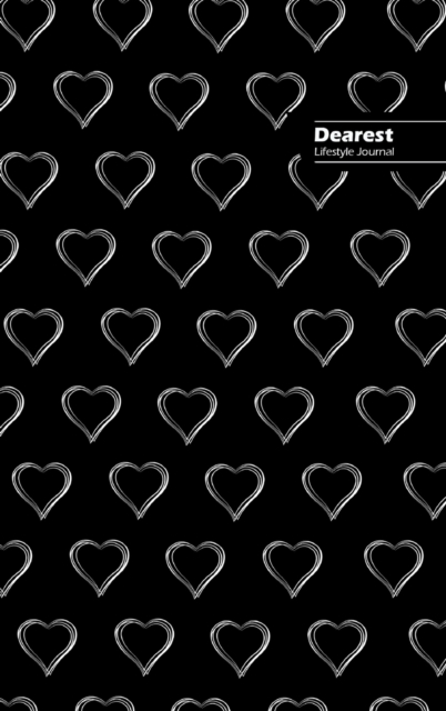 Dearest Lifestyle Journal, Write-in Notebook, Dotted Lines, Wide Ruled, Medium 6 x 9 Inch (A5) Hardcover (Black III)