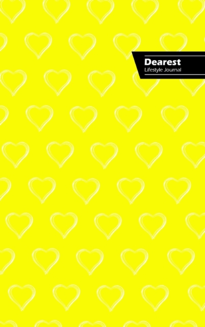 Dearest Lifestyle Journal, Write-in Notebook, Dotted Lines, Wide Ruled, Medium Size 6 x 9 Inch (A5) Hardcover (Yellow)