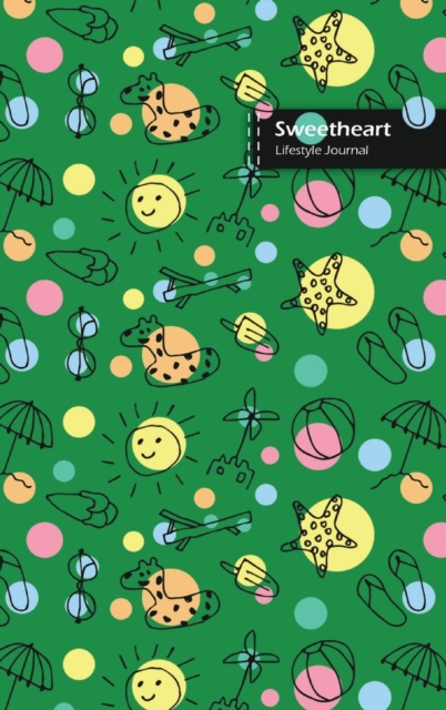 Sweetheart Lifestyle Journal, Blank Write-in Notebook, Dotted Lines, Wide Ruled, Medium Size (A5) 6 x 9 In (Green)