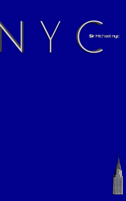NYC Chrysler building bright blue classic grid page notepad $ir Michael Limited edition