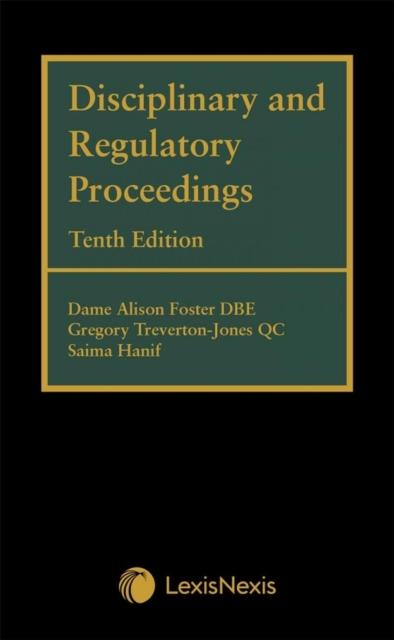 Disciplinary and Regulatory Proceedings