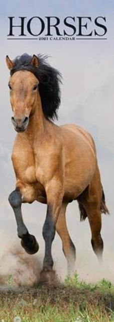 Horses 2021 Slim Calendar