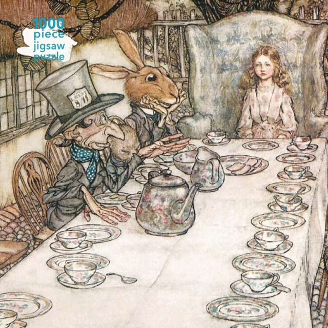 Adult Jigsaw Puzzle Arthur Rackham: Alice in Wonderland Tea Party