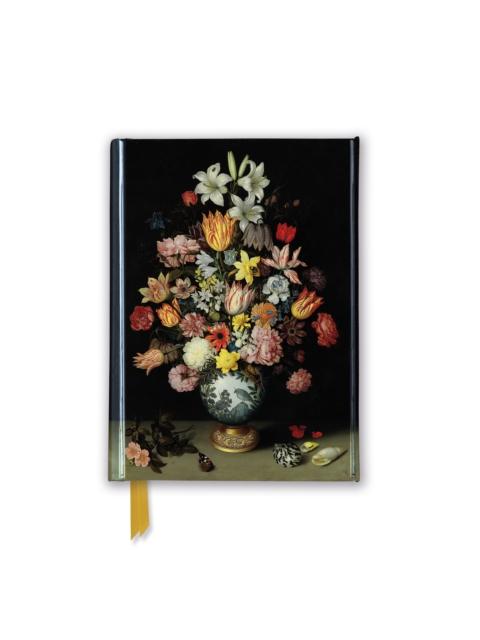 National Gallery - Bosschaert: A Still Life of Flowers (Foiled Pocket Journal)
