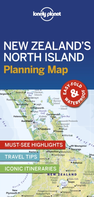 Lonely Planet New Zealand's North Island Planning Map