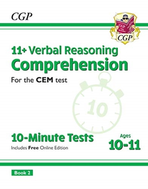 New 11+ CEM 10-Minute Tests: Comprehension - Ages 10-11 Book 2 (with Online Edition)