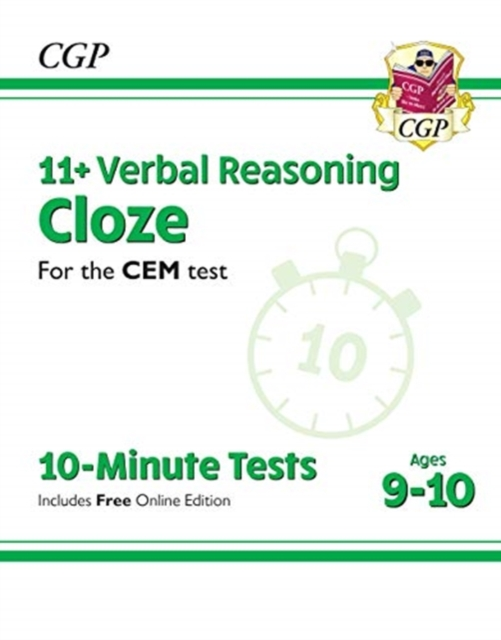 New 11+ CEM 10-Minute Tests: Verbal Reasoning Cloze - Ages 9-10 (with Online Edition)