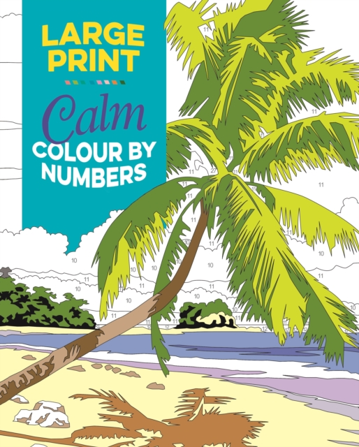 Large Print Calm Colour by Numbers