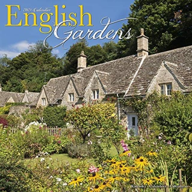 English Gardens 2021 Wall Calendar