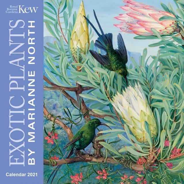 Kew Gardens - Exotic Plants by Marianne North Mini Wall calendar 2021 (Art Calendar)