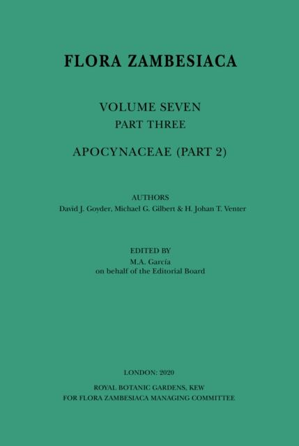 Flora Zambesiaca Vol 7 Part 3 Apocynaceae (Part 2)