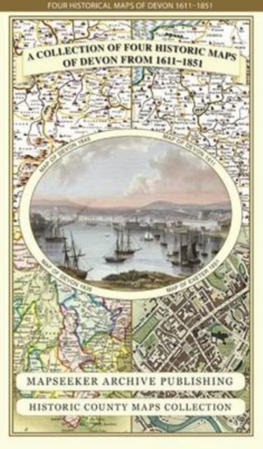 Collection of Four Historic Maps of Devon from 1611-1851