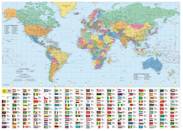 Philip's RGS World Wall Map (with Flags)