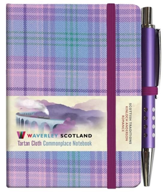 Waverley S.T. (S): Romance Mini with Pen Pocket Genuine Tartan Cloth Commonplace Notebook