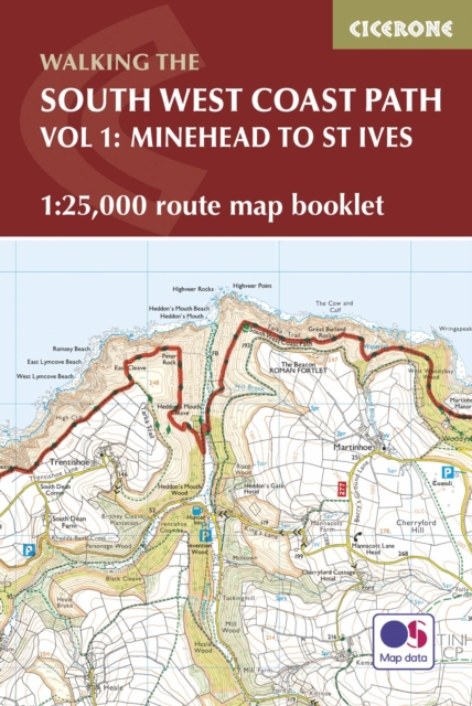 South West Coast Path Map Booklet - Vol 1: Minehead to St Ives