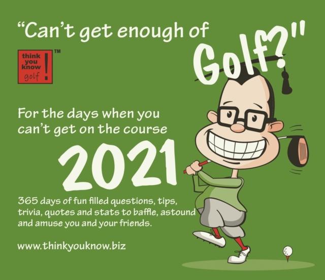 Can't Get Enough of Golf Box Calendar 2021