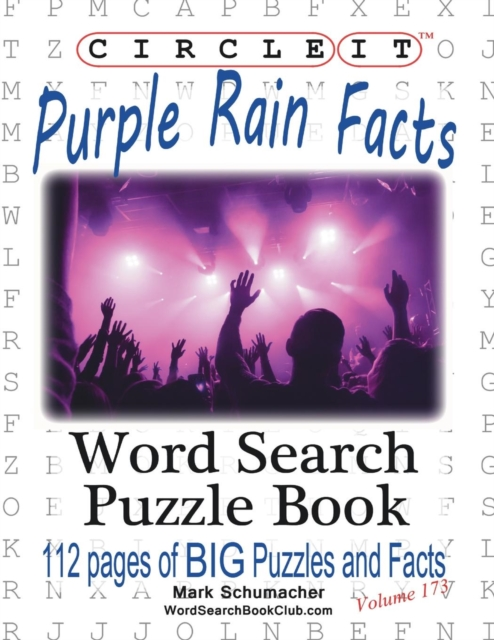 Circle It, Purple Rain Facts, Word Search, Puzzle Book