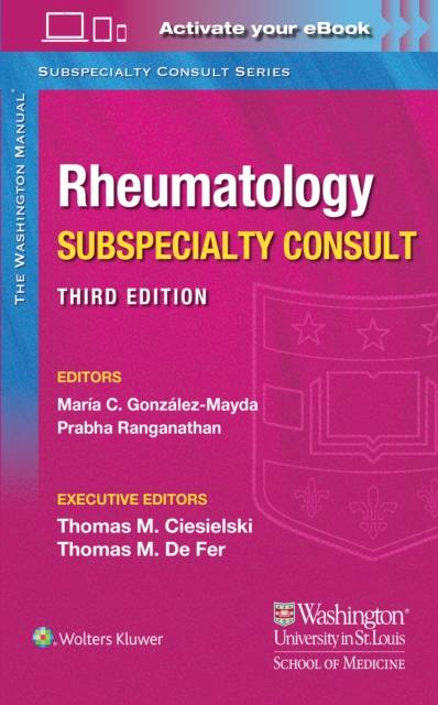Washington Manual Rheumatology Subspecialty Consult
