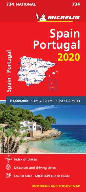 Spain & Portugal 2020 - Michelin National Map 734