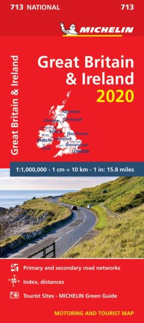 Great Britain & Ireland 2020 - Michelin National Map 713