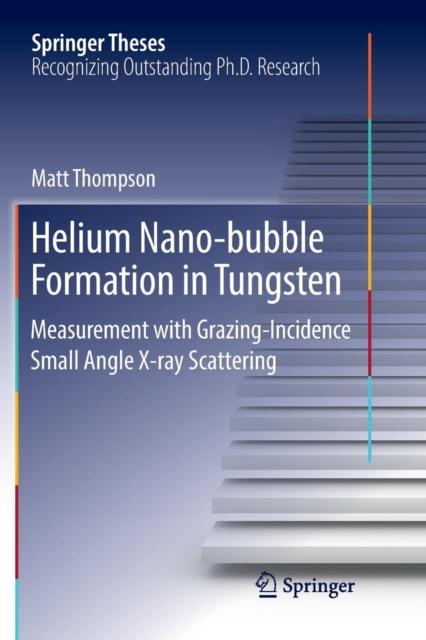 Helium Nano-bubble Formation in Tungsten