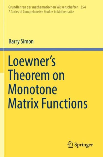 Loewner's Theorem on Monotone Matrix Functions
