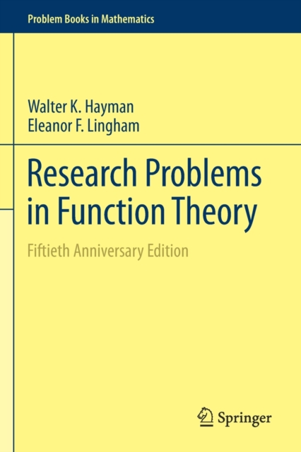 Research Problems in Function Theory