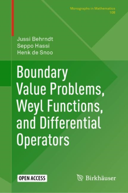 Boundary Value Problems, Weyl Functions, and Differential Operators