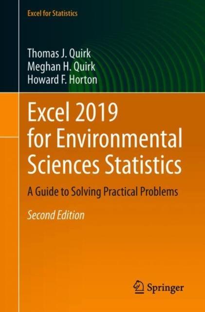 Excel 2019 for Environmental Sciences Statistics