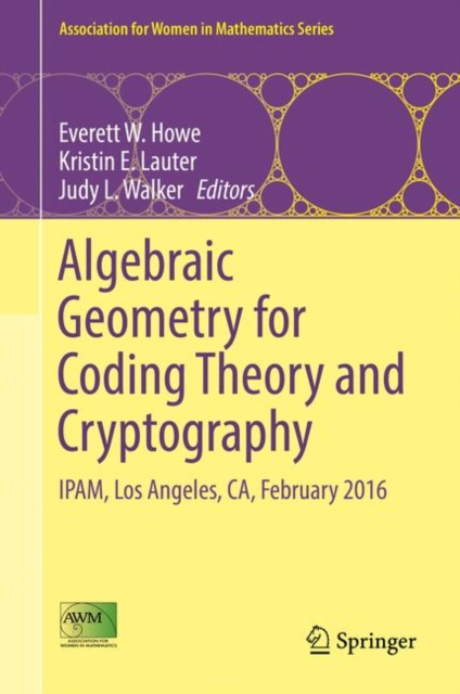 Algebraic Geometry for Coding Theory and Cryptography