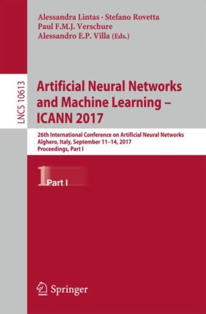 Artificial Neural Networks and Machine Learning - ICANN 2017
