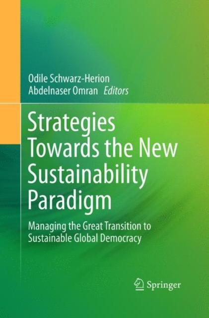 Strategies Towards the New Sustainability Paradigm