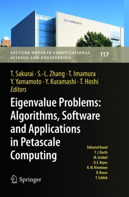 Eigenvalue Problems: Algorithms, Software and Applications in Petascale Computing
