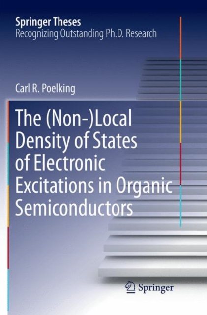 (Non-)Local Density of States of Electronic Excitations in Organic Semiconductors