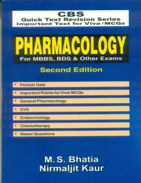 Pharmacology for MBBS, BDS & Other Exams