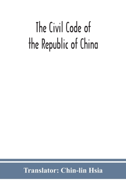 Civil code of the republic of China