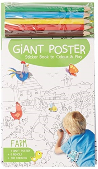 Giant Poster Colouring Book: Farm