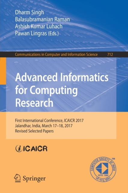 Advanced Informatics for Computing Research