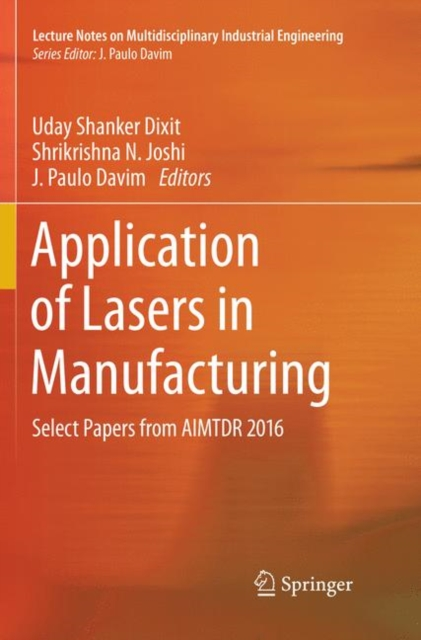 Application of Lasers in Manufacturing